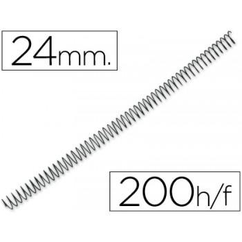 Espiral Metálica de Encadernação Passo 5:1 24 mm Preta (100 unidades)