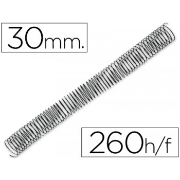 Espiral Metálica de Encadernação Passo 5:1 30 mm Preta (50 unidades)