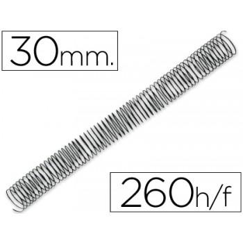 Espiral Metálica Passo 5:1 30 mm Preta (50 unidades)