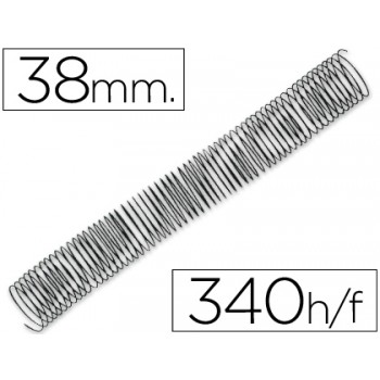 Espiral Metálica Passo 5:1 38 mm Preta (25 unidades)