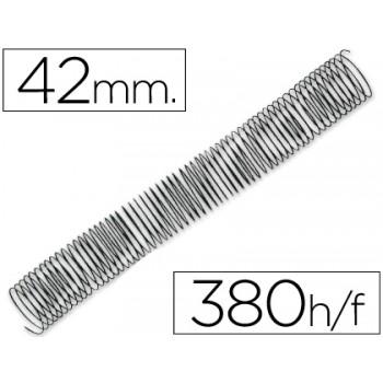 Espiral Metálica de Encadernação Passo 5:1 42 mm Preta (25 unidades)