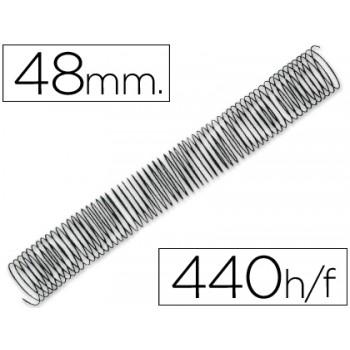 Espiral Metálica de Encadernação Passo 5:1 48 mm Preta (25 unidades)
