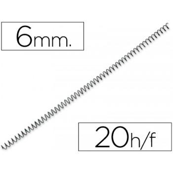 Espiral Metálica de Encadernação Passo 5:1  6 mm Preta (100 unidades)