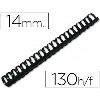 Espiral Plástica 14mm Preta (100 unidades)