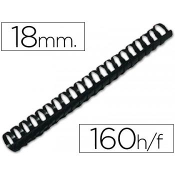 Espiral Plástica 18mm Preta (50 unidades)