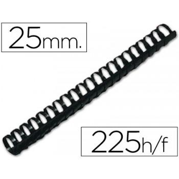 Espiral Plástica 25mm Preta (50 unidades)
