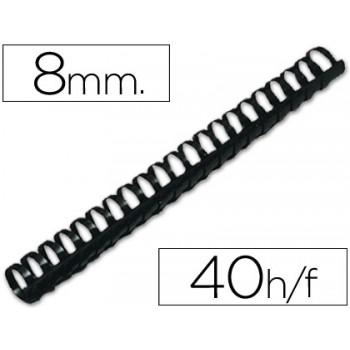Espiral Plástica 8mm Preta (100 unidades)
