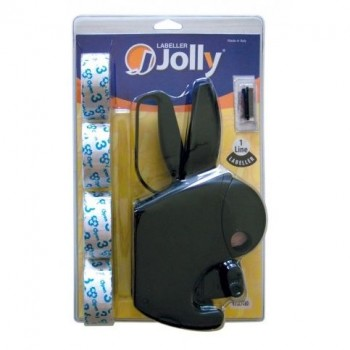 Etiquetadora 8 Dígitos Jolly JC8 + 4 Rolos de Etiquetas 26x12 + 1 Ink Roller