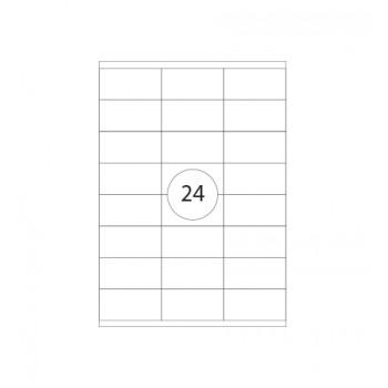 Etiquetas A4 70X36mm  Autocolantes Brancas 100 Folhas