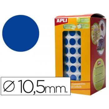 Etiquetas Auto Adesivas Circulares 10,5mm Azul Rolo