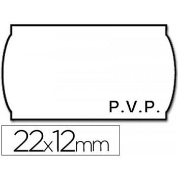 Etiquetas de Rolo 22x12mm P.V.P Com 1500 Onduladas Branca