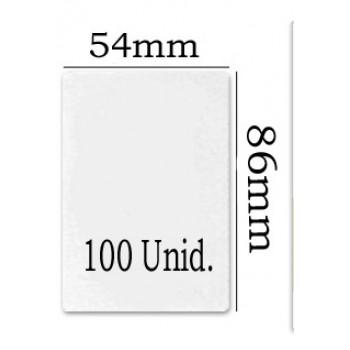 Bolsa Plastificação Térmica 54x86mm - 100 unidades