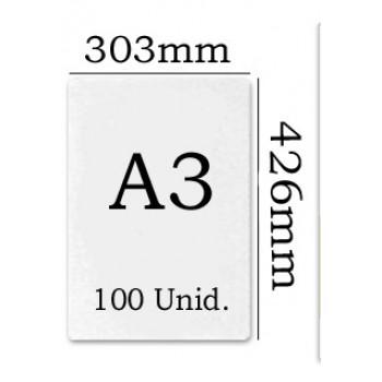 Bolsa Plastificação Térmica 303x426mm A3 125 microns - 100 unidades