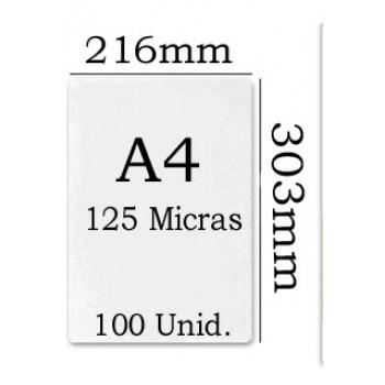 Bolsa Plastificação Térmica 216x303mm A4 125 microns - 100 unidades