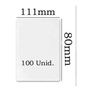 Bolsa Plastificação Térmica 111x80mm A7 - 100 unidades