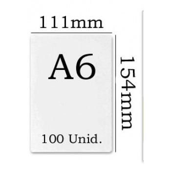 Bolsa Plastificação Térmica 111x154mm A6 - 100 unidades