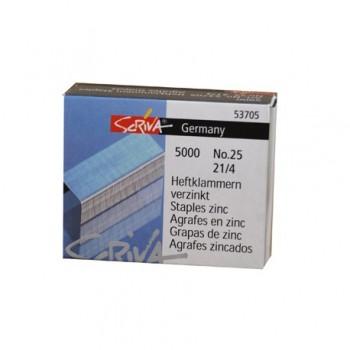 Agrafos  Nº25 (21/4mm) Com 5000 Scriva
