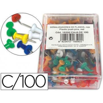 Alfinetes de Sinalização cores sortidos caixa 100