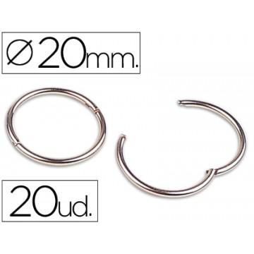 Argolas Dobradiça Niqueladas Nº1 20mm ( 20 unidades)