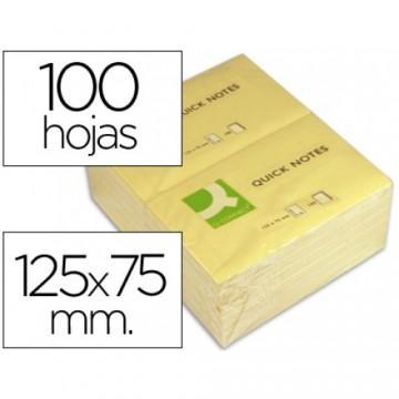 Bloco Notas Adesivo 75mmx125mm Amarelo 100 Folhas