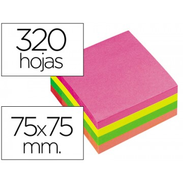 Bloco Notas Adesivo 75mmx75mm Fluorescente 320 Folhas