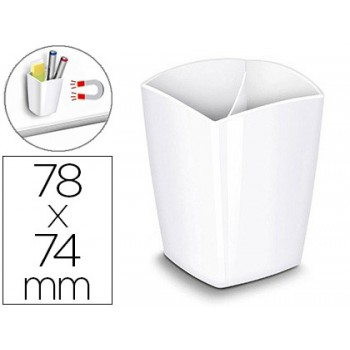 Copo Porta Lápis Magnético 78x74x95mm Branco Cep