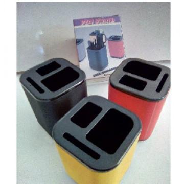 Copo Porta Lápis Plástico Com 3 Divisorias