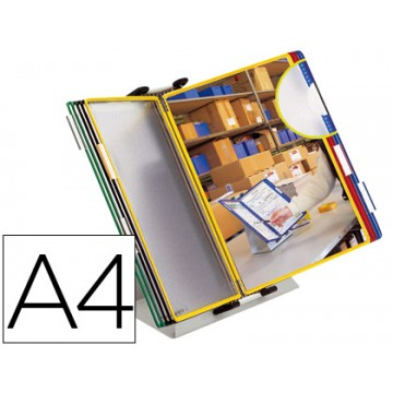 Porta Catálogos De Secretária 10 Bolsas A4 Metal Tarifold
