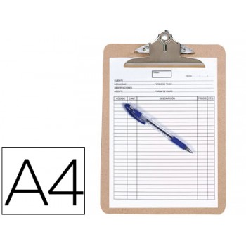 Porta Notas Prancheta Com Mola A4 MDF Q-Connect