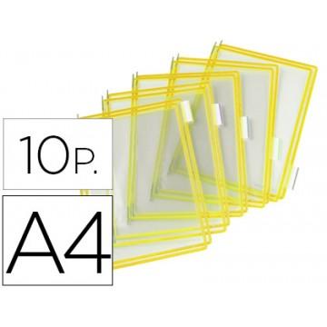 Bolsas recarga para porta catálogos A4 Amarela -10 Unidades