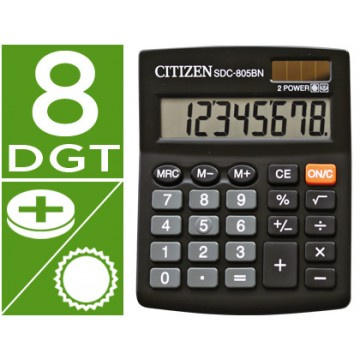 Calculadora Secretária 8 dígitos SDC-805-BN Citizen
