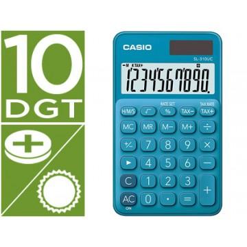 Calculadora de Bolso Casio SL-310UC-BU 10 Dígitos Azul