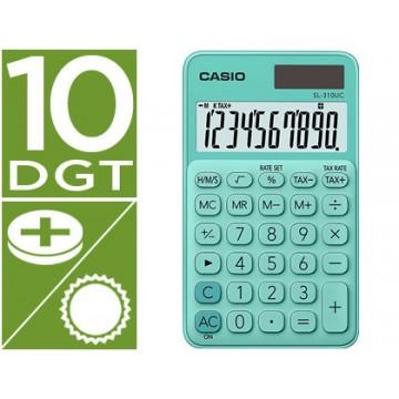 Calculadora de Bolso Casio SL-310UC-GN 10 Dígitos Verde