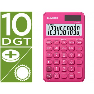 Calculadora de Bolso Casio SL-310UC-RD 10 Dígitos Fúcsia