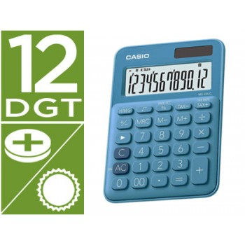 Calculadora Secretária 12 dígitos Casio MS-20UC-RD Azul