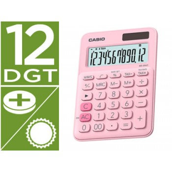 Calculadora Secretária 12 dígitos Casio MS-20UC-RD Rosa