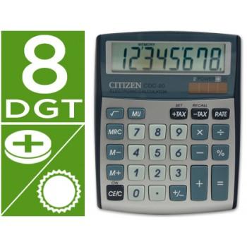 Calculadora Secretária 8 dígitos Cdc-80 Citizen Cor Prata