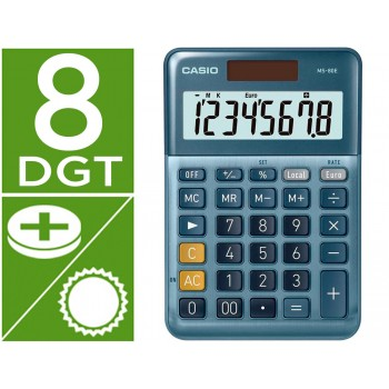 Calculadora Secretária 8 dígitos MS-80E Azul Casio