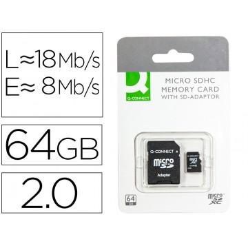 Cartão Memória 64GB SD Micro Fash Classe 10 com Adaptador