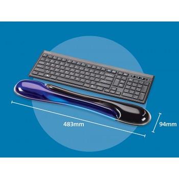 Apoio de Pulso Duo Gel para Teclado Preto/Azul Kensington