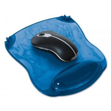 Tapete para Rato Com Apoio de Pulsos em Gel Azul Q-Connect