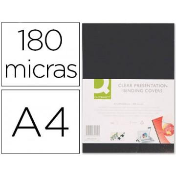 Capa De Encadernação A4 PVC 180 Microns Opaco Preto 100 unidades