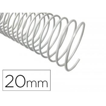Espiral Metálica de Encadernação Passo 5:1 20 mm Branca (100 unidades)