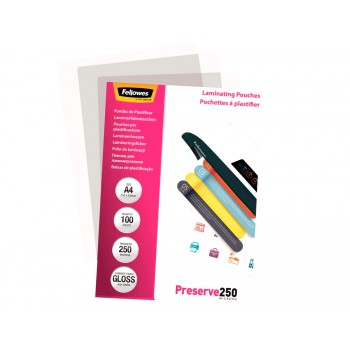 Bolsa Plastificação Térmica 216x303mm A4 250 microns 100 Und. Fellowes