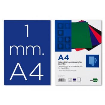 Capa De Encadernação A4 Cartão 1mm Azul 50 Unidades