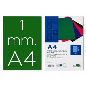 Capa De Encadernação A4 Cartão 1mm Verde 50 Unidades