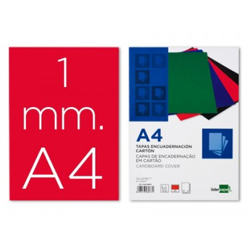 Capa De Encadernação A4 Cartão 1mm Vermelha 50 Unidades