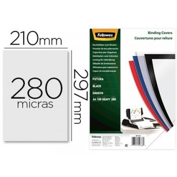 Capa De Encadernação A4 PP 280 Microns Preto 100 unidades