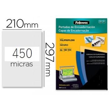 Capa De Encadernação A4 PP 450 Microns Preto 100 unidades
