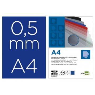 Capa De Encadernação A4 PP 500 Microns Opaca Azul 100 Unidades